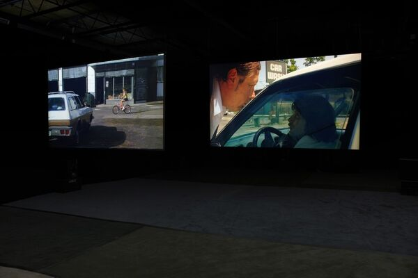 Jack & Leigh Ruby: Car Wash Incident, installation view