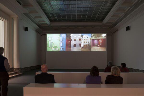 Daniel Buren: A Fresco, installation view