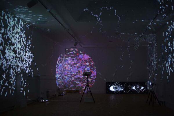 Charles Sandison   The Tyranny Of Language, installation view