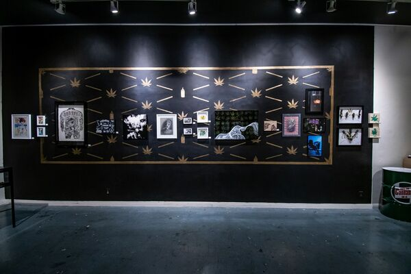 The Cannabis Art Show, installation view