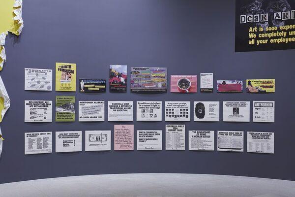 Art at the Center: Guerrilla Girls, installation view