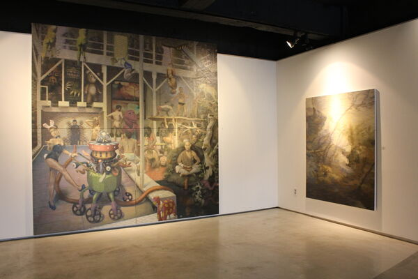 Temptation Duel/Thinkers in Ruins, installation view