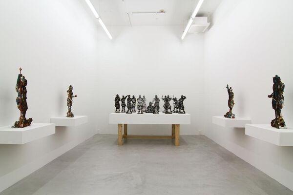 Yuji Honbori, Fujin Raijin, installation view