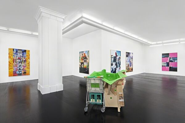 Mike Bouchet -- Power Lunch, installation view
