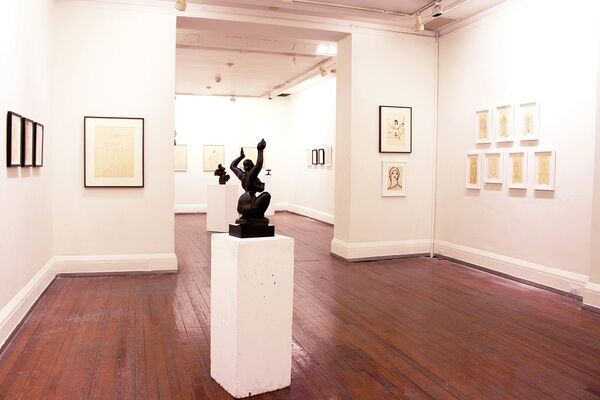 Exuberance on Paper: The Drawings of Gaston Lachaise, installation view