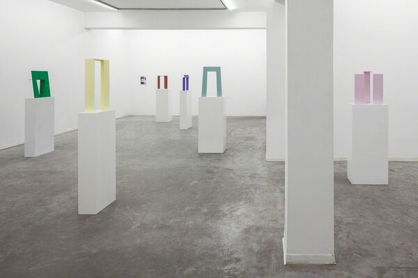 in which its gaze, bent merely on itself, upholds and gleams, installation view