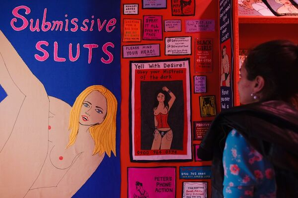 Lucy Sparrow's Erotic Emporium, installation view