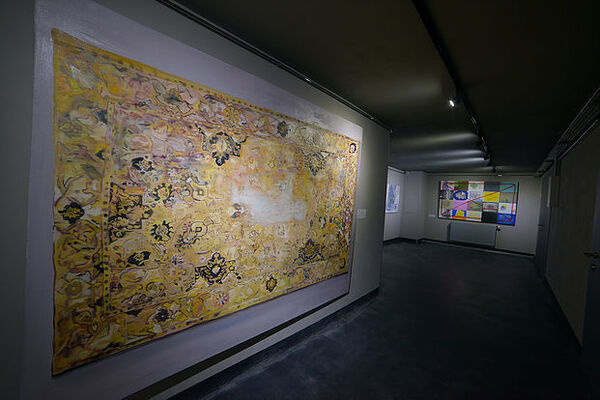 "The all-Ukrainian art project ""Kylym. Contemporary Ukrainian Artists"" in the Carpathians, installation view"