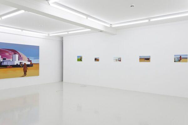 "Robert Sturmhoevel ""Hinterm Horizont"", installation view"