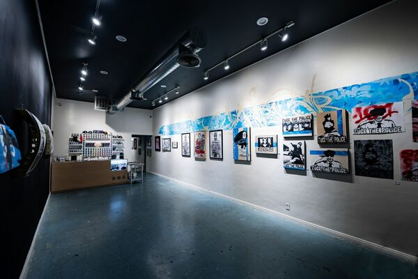 Ewkuks presents REFUSE RESIST REVOLT: a two man art show by Jaber and Aware, installation view