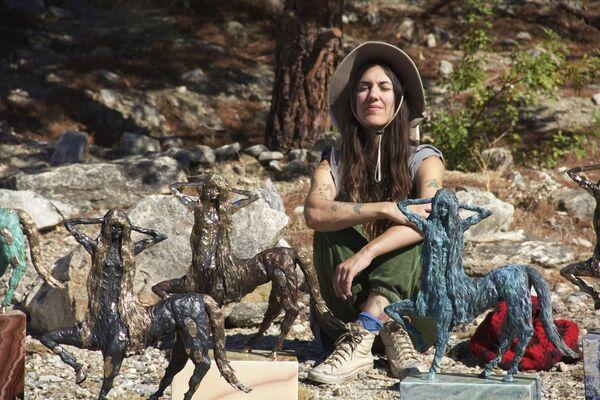 Allison Schulnik: The Centaurette Bronzes, installation view