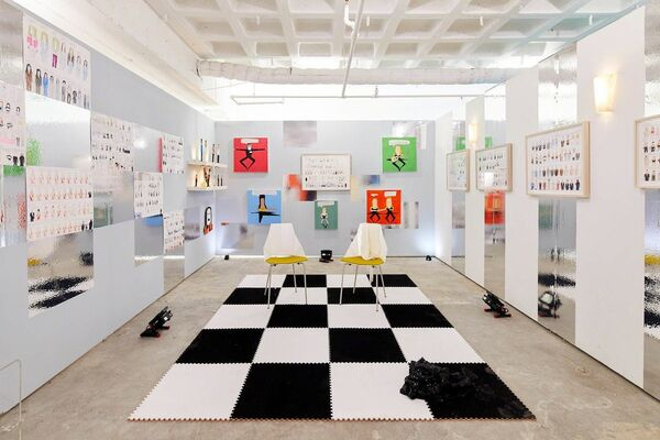 Land Gallery/NAP Projects at SPRING/BREAK Art Show 2019, installation view