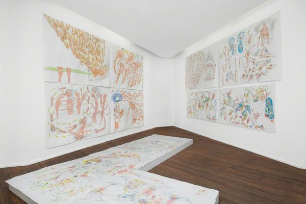 AUDIENCE IS GETTING FRANTIC - APPROACHING VIBRATION by Andrea Éva Győri, installation view