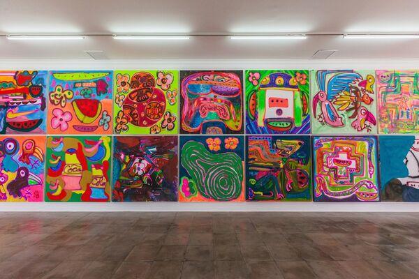 Katherine Bernhardt: Mundo Sandía, installation view