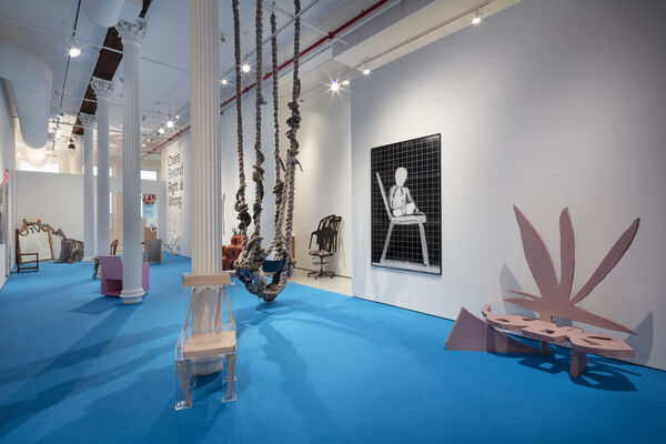 CHAIRS BEYOND RIGHT & WRONG – CURATED BY RAQUEL CAYRE, installation view