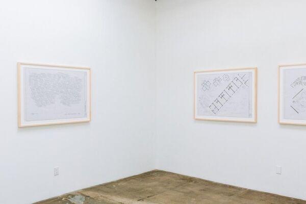Mark Bennett: Dream Houses - The Blueprint Drawings 1992-2017, installation view