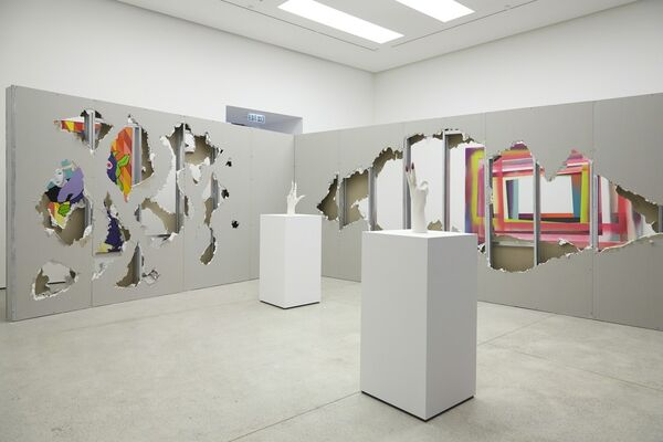 Eddie Peake: Where You Belong, installation view