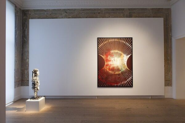 Kendell Geers, 'Stealing Fire From Heaven', installation view
