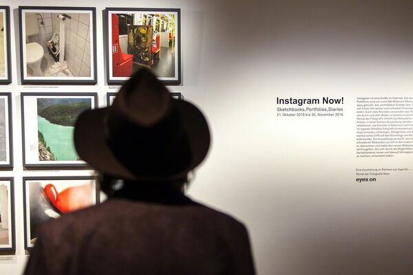 Instagram Now! Sketchbooks, Portfolios, Diaries, installation view