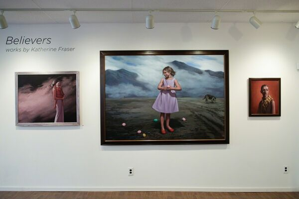 """""""Believers"""" works by Katherine Fraser, installation view"""