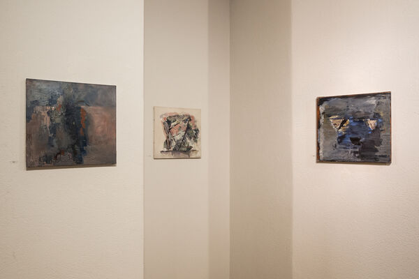 Hommage à Miklos Bokor, peintures et oeuvres sur papier, installation view