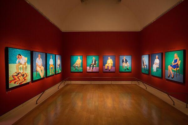 David Hockney RA: 82 Portraits and 1 Still-life, installation view