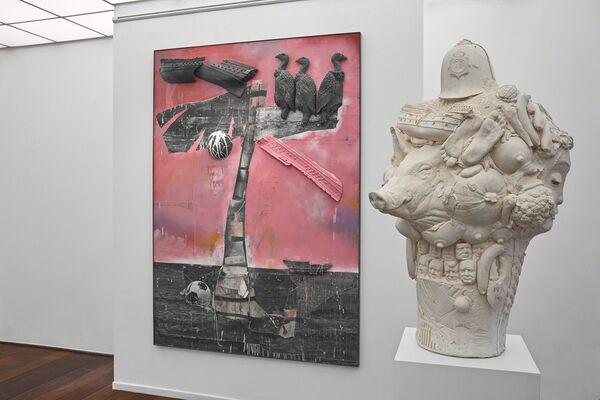 Marcus Harvey - 'Shipbuilding' - New Works, installation view