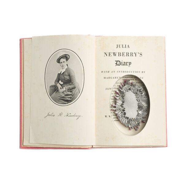 Sondra Sherman, 'Found Subjects: Julia Newberry's Diary, Brooch'