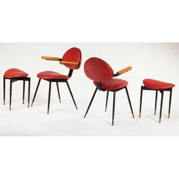 Carlo Mollino, 'Chair and stool from Lutrario Ballroom', ca. 1959