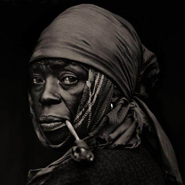 Dana Gluckstein, 'Woman with Pipe, Haiti', 1983