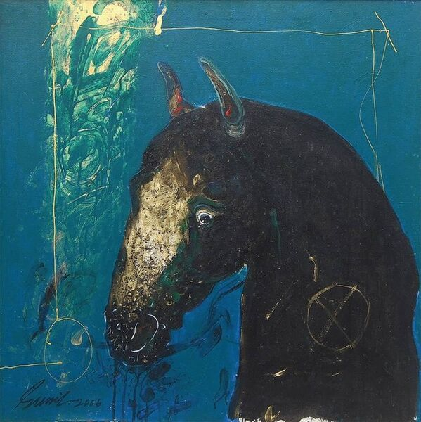 "Sunil Das, 'Horse, Acrylic & Oil on Canvas by Modern Artist Padamshree Awardee Sunil Das ""In Stock""', 2006"
