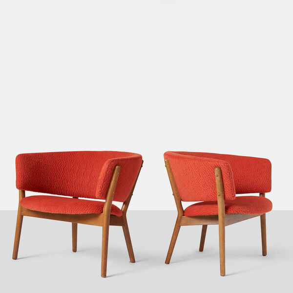 Nanna Ditzel, 'Pair of Nanna Ditzel Model #83 Lounge Chairs for Soren Willadsen', ca. 1952