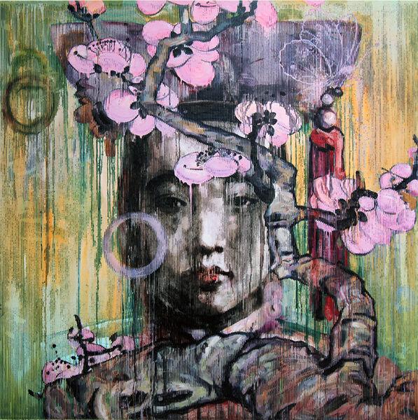 Hung Liu, 'Winter Blossom', 2011