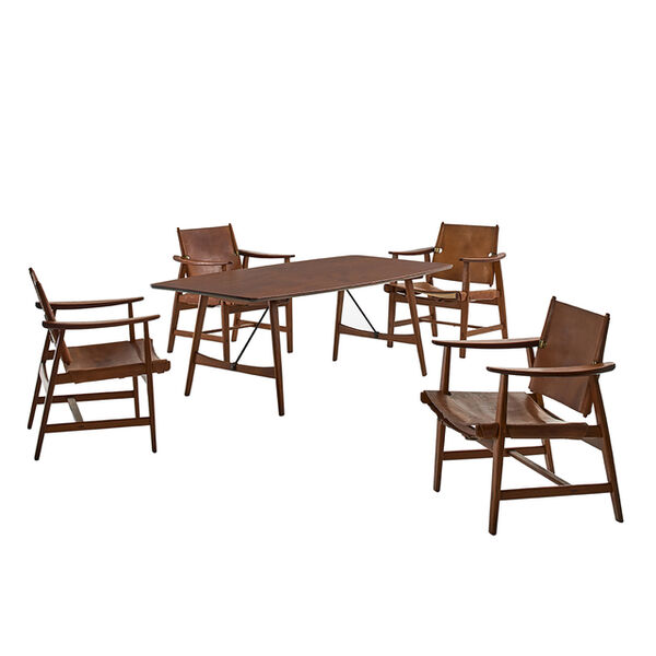 Börge Mogensen, 'Table with four chairs', ca. 1950