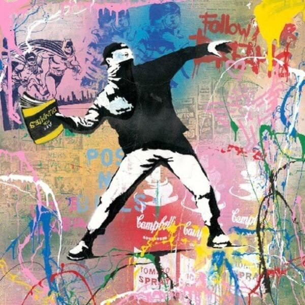 Mr. Brainwash, 'Banksy Thrower', 2019