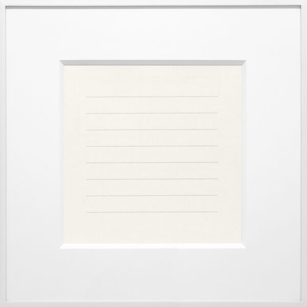 Agnes Martin, 'On a Clear Day #17', 1973