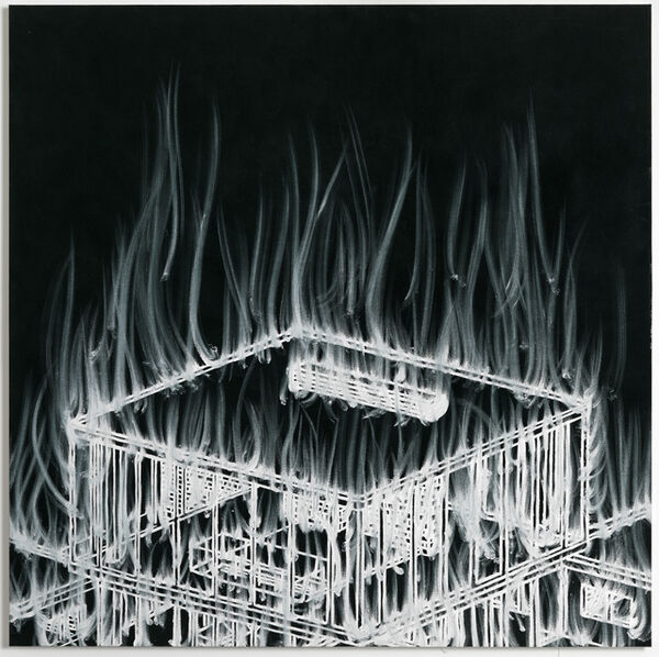 Gary Simmons, 'Top House Fire', 2007