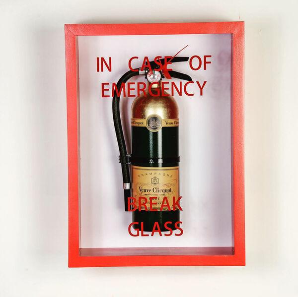 "Plastic Jesus, '""In Case of Emergency Break Glass"" Fire Extinguisher Mixed Media ', 2019"