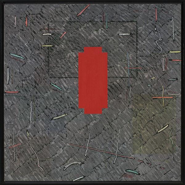 Jack Whitten, 'Red Cross for Naomi', 1980