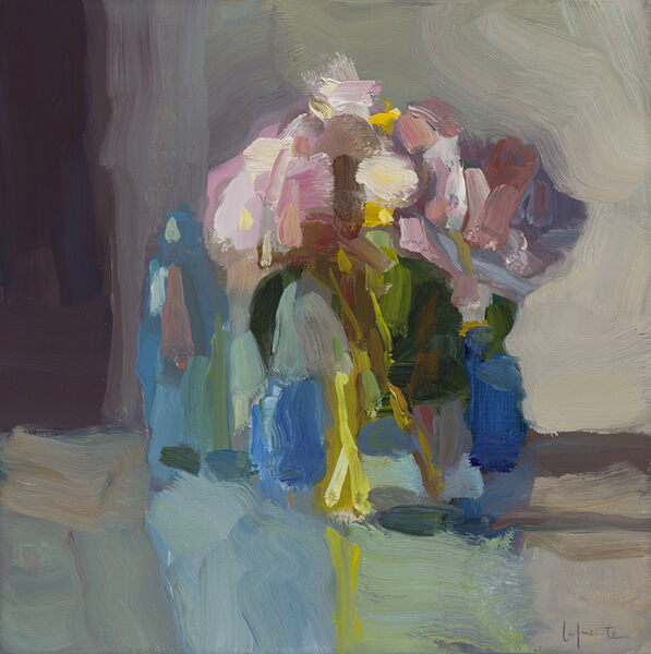 Christine Lafuente, 'Peonies and Blue Bottles', 2019