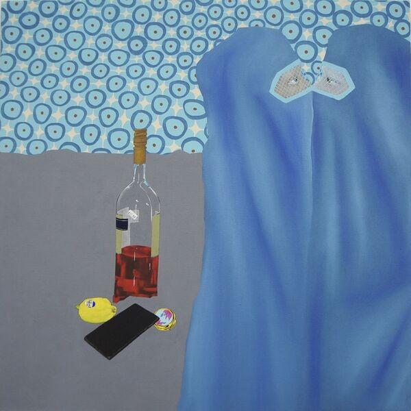 Thordis Adalsteinsdottir, 'Two Women, Booze, Lemon, Pills and Phone', 2019