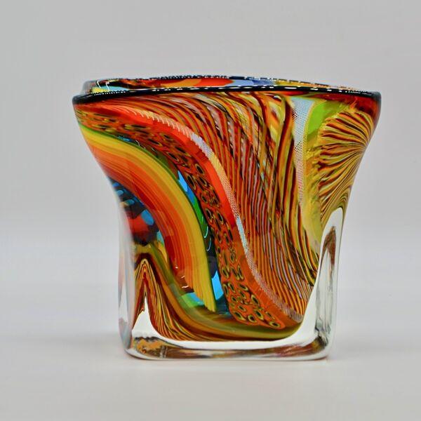 Massimiliano Schiavon, 'Glass Vase:  Square Multi-Color Carnivale ', 2017