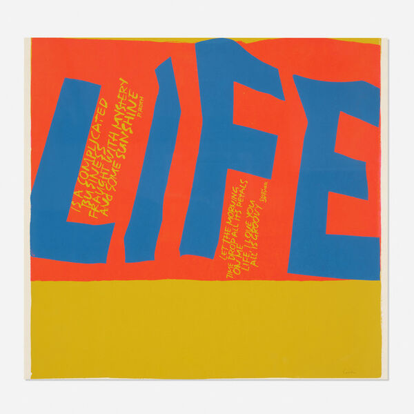 Corita Kent, 'Life is a Complicated Business', 1967