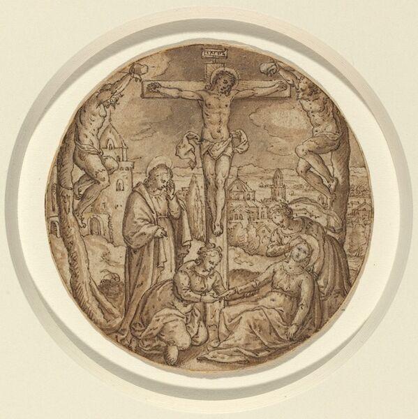 Hans Bol, 'The Crucifixion', 1570s