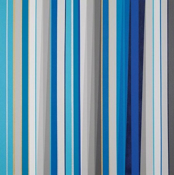 Gabriele Evertz, '(A-) Chromatics + Metallics (Blue)', 2014