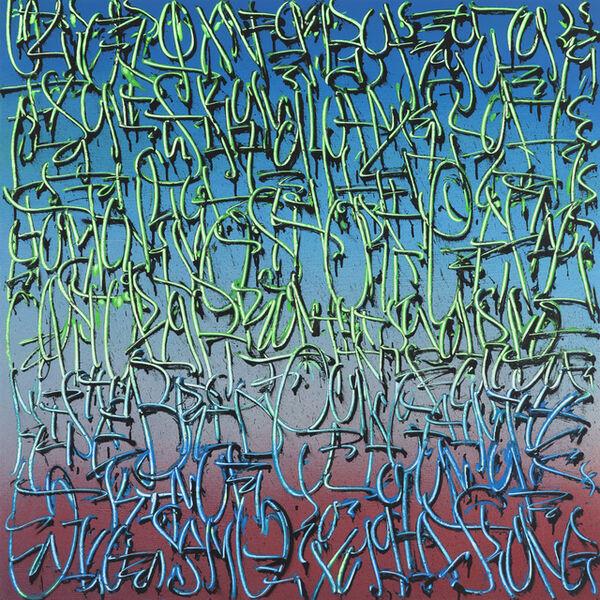 "TANC, '""Exploration 5"" -- graffiti, street art, urban, spray painting. calligraphy', 2018"