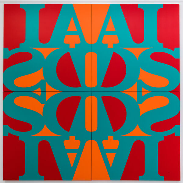 General Idea, 'Great AIDS (Phthalo Turquoise Green)', 1990/2018