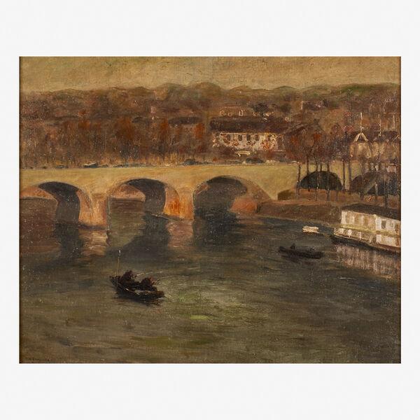 Edward Willis Redfield, 'Bridge at Charenton', 1900