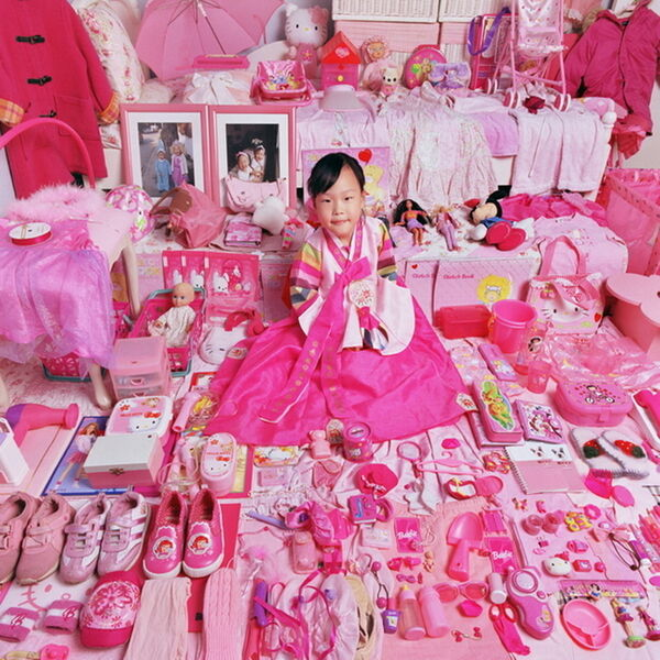 JeongMee Yoon, 'The Pink Project – Yerim and Her Pink Things', 2005