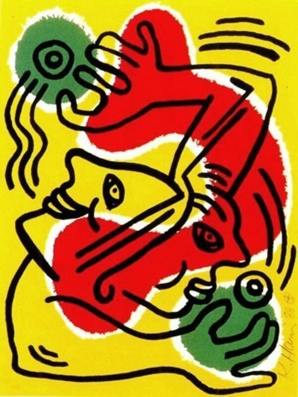 Keith Haring, 'International Volunteer Day', 1988, Print, Lithograph, Composition.Gallery